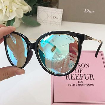 DIOR Popular Women Men Casual Shades Eyeglasses Glasses Sunglasses Blue