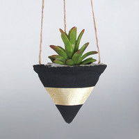 Air Planter, Concrete Planter, Hanging Planter, Succulent Planter, Black Planter, Modern Planter, Geometric Planter, Succulent Pot, Gold