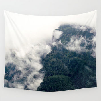 Wall Tapestry, Mountain Tapestry, Clouds Wall Hanging, Nature Photography Wall Art, Large Photo Wall Art, Modern Tapestry, Home Decor