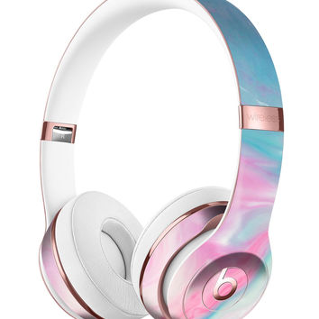 Marbleized Pink and Blue Paradise V482 Full-Body Skin Kit for the Beats by Dre Solo 3 Wireless Headphones