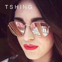 TSHING Hexagonal Aviator Women's Polarized Driving Sunglasses