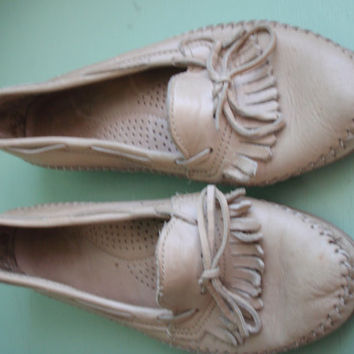 Womens DEXTER Leather MOCCASINS, Made in USA, Size 8.5