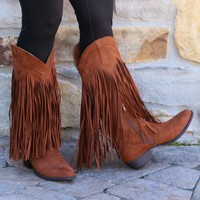 Get Fringy With It Boots | Monday Dress Boutique