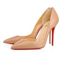 Christian Louboutin CL Iriza Nude Leather 100mm Stiletto Heel 13w Best Deal Online