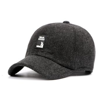 Surblue Winter Thickened Baseball Cap For Men With Ear Flaps Warm Cotton Brand Designer Bone Dad Hat Snapback tab Hats