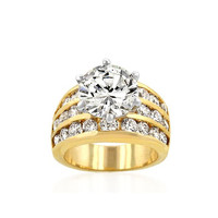 Classic Gold Engagement Ring, size : 05