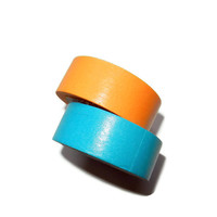 Set of Orange and Light Blue Washi Tape