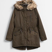 Bershka - Details - BSK fur-trim hooded parka