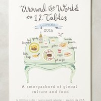 Twelve Tables 2015 Calendar by Anthropologie White One Size House & Home