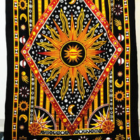 Twin Celestial Sun and moon Tapestry Wall Hanging Bedspread – TheNanoDesigns