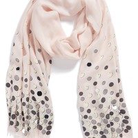 kate spade new york 'paillettes' scarf | Nordstrom