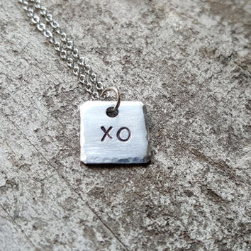 Petite XO Necklace. Hugs and Kisses Necklace. Sweetheart Necklace. Gift For Her. Gift For Wife. Girlfriend Necklace. Heart. LGBT Jewelry.