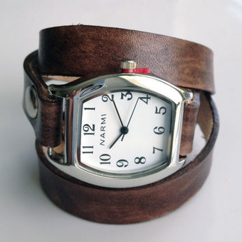 Leather Watch Wrap Bracelet Made to Order by LoveThatLeather