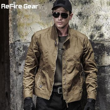 Autumn Men's Tactical Field Bomber Jacket, Military Clothes Special Forces Army Jackets, Fall Spring Casual Male Slim Pilot Coat