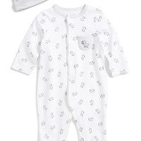 Infant Boy's Little Me Zebra Print One-Piece & Hat
