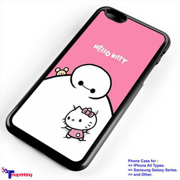 baymax and Hello kitty - Personalized iPhone 7 Case, iPhone 6/6S Plus, 5 5S SE, 7S Plus, Samsung Galaxy S5 S6 S7 S8 Case, and Other
