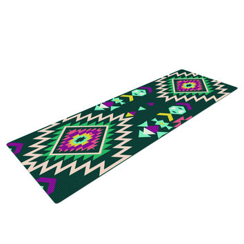 Tribal Teal Pattern Yoga Mat