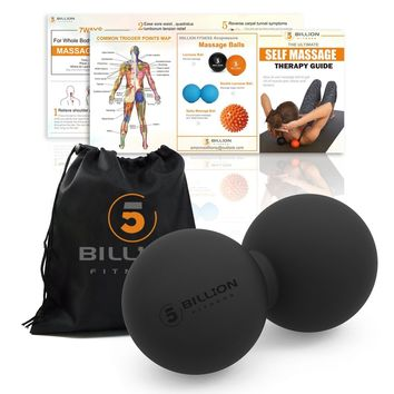 Double Lacrosse Massage Mobility Ball for Deep Tissue Massage, Physical Therapy