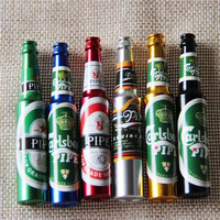 Mini Beer Smoke Metal Pipes Portable Creative Smoking Pipe Herb Tobacco Pipes Sm