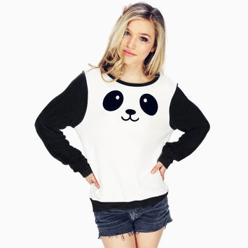 Black And White Panda Sweater