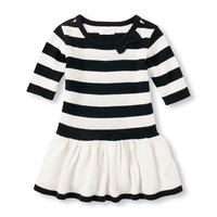 Toddler Girls Elbow Sleeve Striped Sweater Dress | The Children's Place