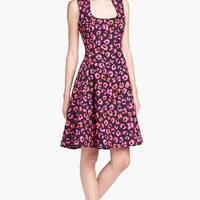 kate spade new york 'kimi' cotton & silk a-line dress | Nordstrom