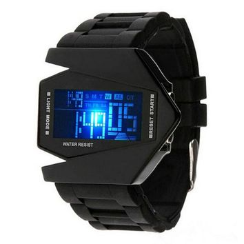 Military Fighter Style LED Display Watch
