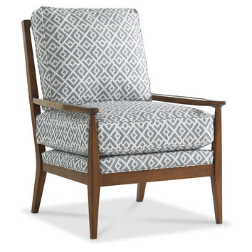 Oslo Accent Chair, Denim/White, Accent & Occasional Chairs