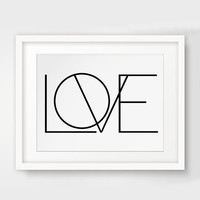Black and White Art, Love Print, Love Wall Art Wall Picture Canvas Art Poster Cuadros Oil Painting Wall Decor No Frame