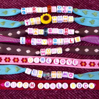 Gay Girl's Bracelets. Selection of bracelets, choose a style! Pro lesbian, bisexual and pansexual women. LGBT themed. Gay pride bracelet
