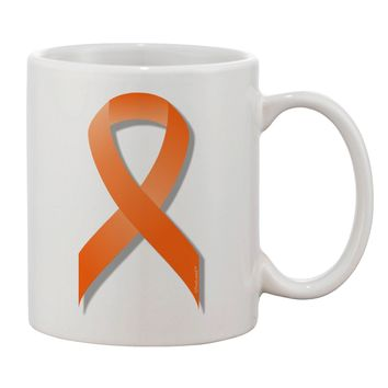 Leukemia Awareness Ribbon - Orange Printed 11oz Coffee Mug