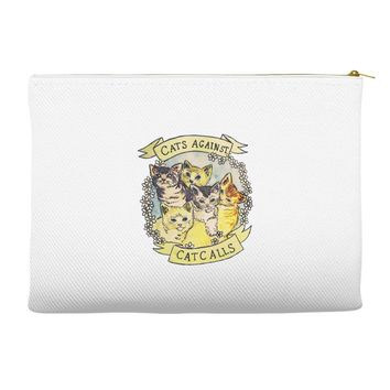 cats against cat calls Accessory Pouches