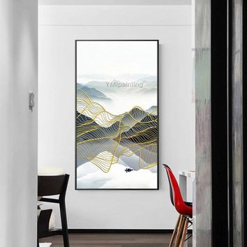 Mordern Abstract painting on canvas art texture acrylic Painting huge size Wall Art Pictures for living room home quadros cuadros decoracion