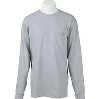 Carhartt Heather Grey Original Fit Long Sleeve Work Shirt