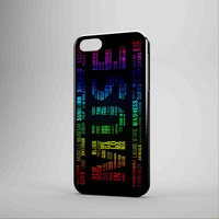 Muse Song Title Rainbow Colours iPhone Case Samsung Galaxy Case KK 3D