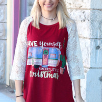 Merry Little Christmas Trailer + Cactus Lace Sleeve Raglan - KIDS + ADULTS