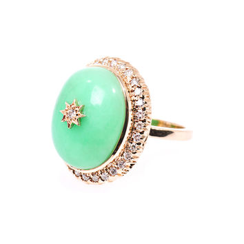 Diamond, chrysoprase and gold star ring | Zoe & Morgan Fine Je...