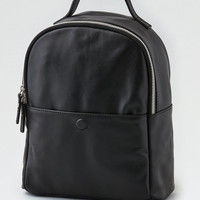 AEO Wander Leather Mini Backpack, Black