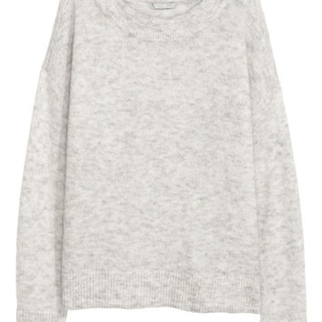 Wool-blend jumper - Light grey - Ladies | H&M GB