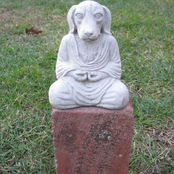 Buddha Dog, Meditating dog, Concrete Dog