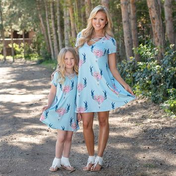 Mommy and me matching Dresses 2 colors