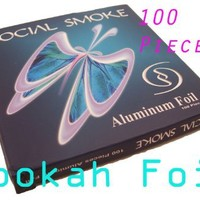 100 Piece Hookah Foil Screen Hookah Bowl and Shisha Sheesha Hooka Huka Nargila
