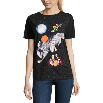 Space Jam Graphic T-Shirt- Juniors - JCPenney