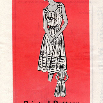 Retro Sewing Pattern 80s Sundress Mail Order Parade Full Circle Skirt Sleeveless Scoop Neck 50s Rockabilly Style Dress Uncut Bust 34