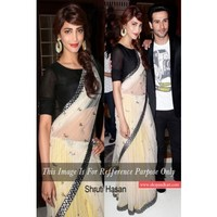 Welcome Back Gabbar Shruti Hassan in beautiful white designer saree Bollywood and South Indian actress | Shop 'N kart