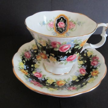 Royal Albert Cup and Saucer Garland Series Fascination