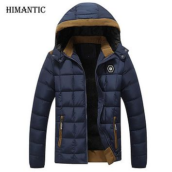 Winter Jacket Men Velvet Thicken Cotton Coat Men Casual parka Warm Removable Hooded Jackets