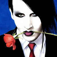 Spirit Up Art Large Canvas Giclee Print Painting Marilyn Manson Picture Stretched and Framed, Modern Home Decorations Wall Art, 8*10inches #05HTK(403)