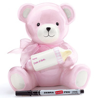 Baby Girl Bear Bank