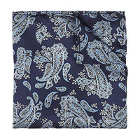 River Island MensNavy paisley pocket square